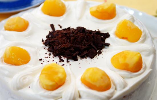 抹茶と生クリームのケーキ01