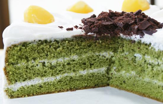 抹茶と生クリームのケーキ03