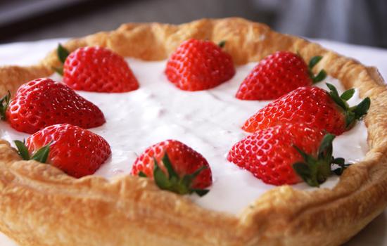 ストロベリークリームパイ|いちごパイ01