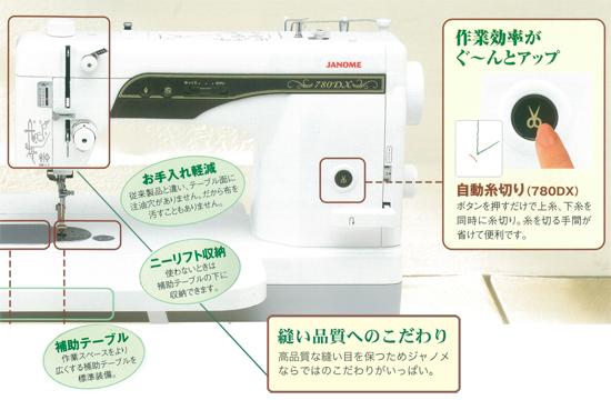 ジャノメコンパクト電子ミシン 780dx写真03